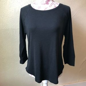 Mossimo Scoop Neck Long Sleeve T-shirt M Black
